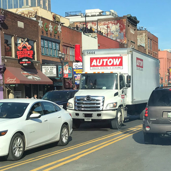 Autow Box truck in Downtown Nashville