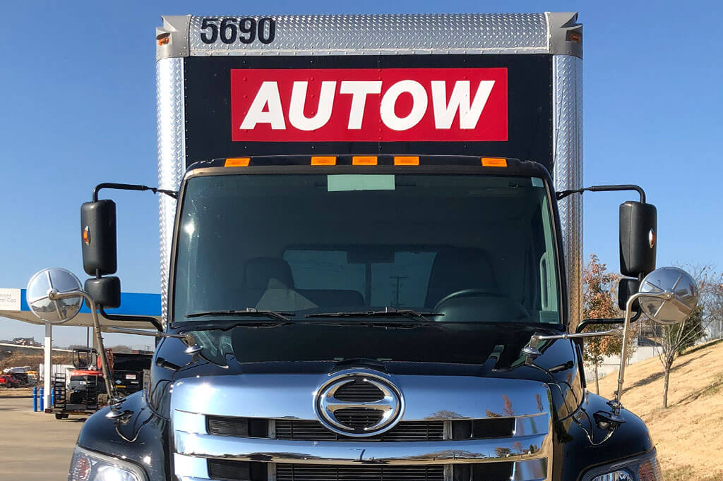 Front of Autow Black Box Truck